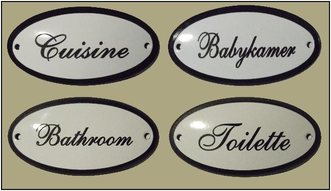 Plaques de porte ovale, Türschilder oval, Oval door signs, Deurbordjes, deurbordje, deurplaatje, deurplaatjes, tekstplaatje, tekstplaatjes, naamplaatje, naamplaatjes, emaille.