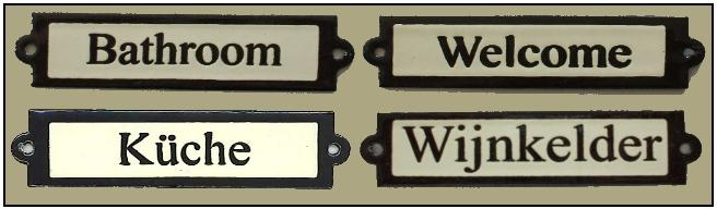 Plaques de porte rectangle, Türschilder rechteckig, Ractangular door signs deurplaatje, deurplaatjes, tekstplaatje, tekstplaatjes, naamplaatje, naamplaatjes, emaille.