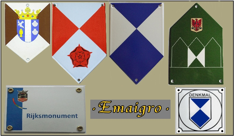 monumentenschildjes, denkmalschilder, plaque protection du patrimoine mondial, culturel et naturel Unesco, cultural property protection signs.